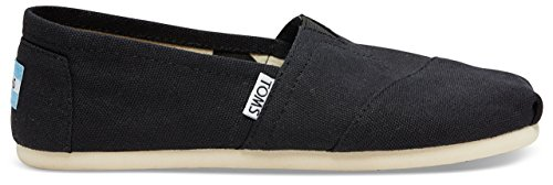 Toms Women's Classic Canvas Black Slip-on Shoe - 8.5 B(M) US
