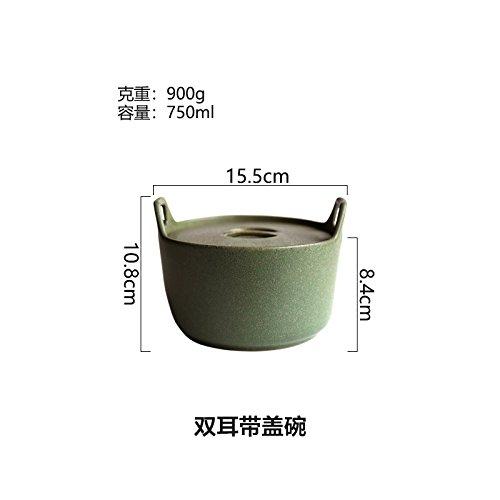 YUWANW Bronce Japonés Comida Western-Style Cerámica Verde Ensalada ...