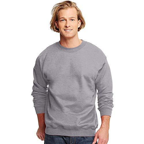 - Hanes Men's Ultimate Cotton Heavyweight Crewneck Sweatshirt_Oxford Gray_M