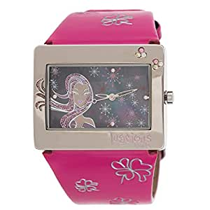 Luscious Girls Girls' Black Dial Leather Band Casual Watch - LG011