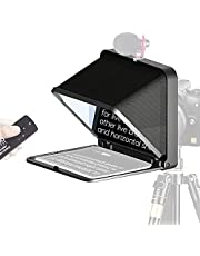 LENSGO TC7 Teleprompter Portable Foldable Prompter for ipad for iPhone Smartphone Tablet Teleprompter with Remote Control