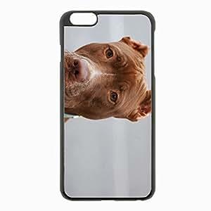 iPhone 6 Plus Black Hardshell Case 5.5inch - pitbull eyes purebred dog Desin Images Protector Back Cover