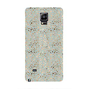 Cover It Up - Brown Cyan Pebbles Mosaic Galaxy note Edge Hard Case