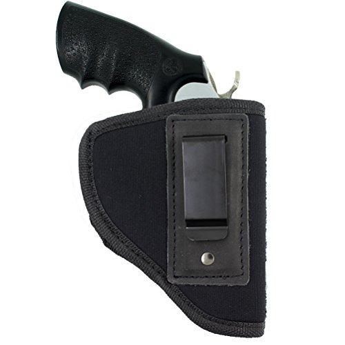 Creatrill Inside The Waistband Holster | Fits Most J Frame Revolvers / Ruger LCR / Smith & Wesson Body Guard / Taurus / Charter / most .38 special type guns | Gun Concealed Carry IWB or OWB Holster (38 Special Pistol)