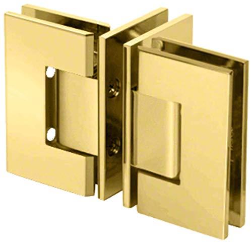 CRL GENT90BR Brass 'T' Configuration Geneva Glass-to-Glass Hinge