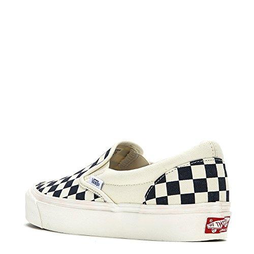 Vans OG Classic Slip-On LX Sneakers VN0A32QNP4I White/Navy, US 4.5 Men / 6 Women