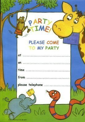 Jungle party invitations 20 sheets envelopes amazon jungle party invitations 20 sheets envelopes stopboris Choice Image