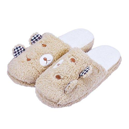 Women Wool Slippers,Toponly Women Lovely Bear