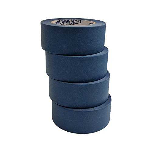 True Blue Premium Blue Professional Painter's Masking Tape – Indoor and Outdoor Use – Commercial Grade - Available in 2 Widths – Works on a Variety of Surfaces (2 Inch, 4-Pack) by True Blue (Image #4)