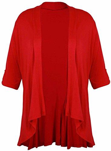 Funky Fashion Shop - Camiseta de manga larga - trenca - para mujer Rosso