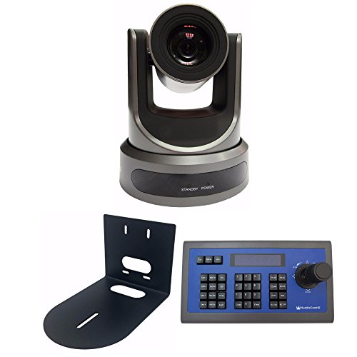 PTZOptics 20X-SDI Broadcast and Conference Video Camera+ Wall Mount + Joy Stick