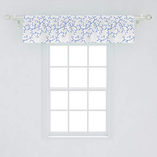Lunarable Atom Window Valance, Structures of Molecules Scientific Concept Chemistry Simple Repetitive Print, Curtain Valance for Kitchen Bedroom Decor with Rod Pocket, 54