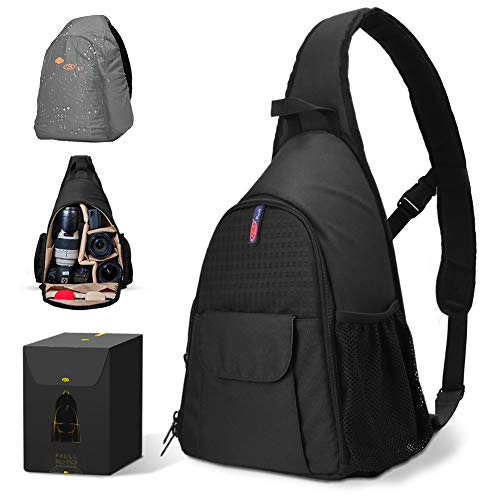 DSLR Camera Bag Waterproof Camera Sling Backpack with Rain Cover Outdoor Travel Backpack Camera Bag Case for Laptop Canon Nikon Sony Pentax DSLR Cameras,Lens,Tripod and - Climbing Camera Bag