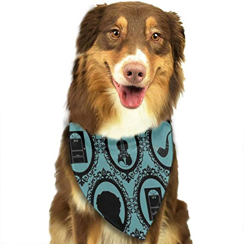 OURFASHION Cameo Detective Blue Bandana Triangle Bibs Scarfs Accessories for Pet Cats and -