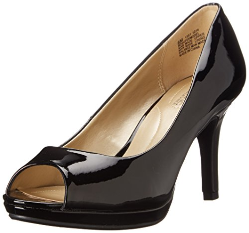 Bandolino Women's Supermodel Synthetic Dress Pump, Black, 10.5 M US