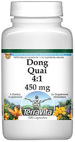 Dong Quai 4:1 - 450 mg (100 capsules, ZIN: 519972) - 3 Pack by TerraVita