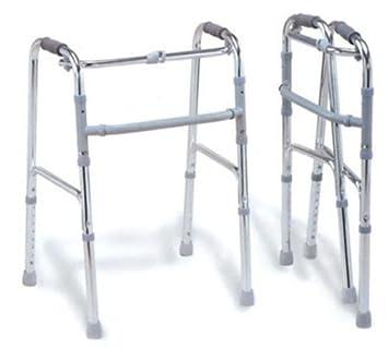 Andador de Aluminio Plegable 4 Casquillos para Mayores y ...