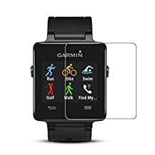 (2 pack) Garmin vivoactive Screen Protector,Full Coverage Tempered Glass Screen Protector for Garmin vivoactive with Anti-fingerprint Bubble-Free Crystal Clear