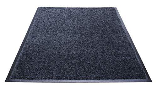 Guardian Platinum Series Indoor Wiper Floor Mat, Rubber with Nylon Carpet, 3'x10', Grey