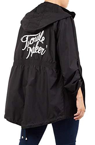 Capuche Mac Showerproof 52 Femmes Tour Black Trouble Lumière Imprimé Imperméable À 36 Haut Manche En Vestes Arrière Poids Nouveau vP7wqa