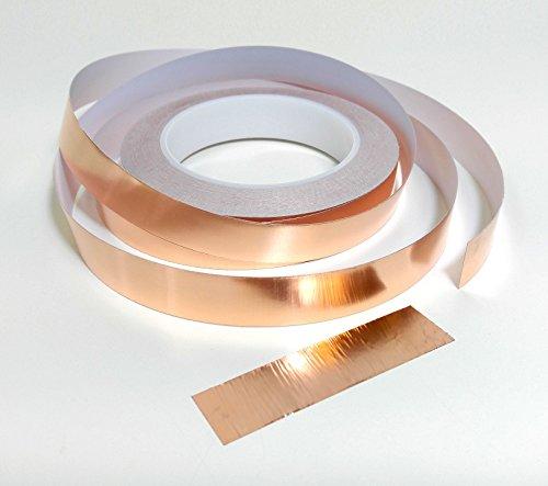 5mm 10mm 20mm x 25m Schneckenband, Kupfer: Klebstoff Kupfer Schnecke Schnecke Absperrband 5mm (W) x 25m (L)