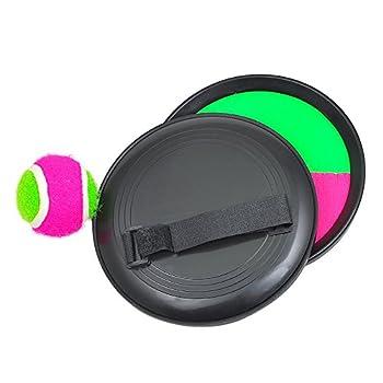 Pevor Paddle Tennis Toy Ball Toss & Catch Sports Ball Throw Catch Bat Ball Game Set 7