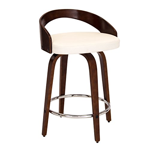 WOYBR CS-JY-GRT CH+W Wood, Pu Leather Grotto Counter Stool For Sale