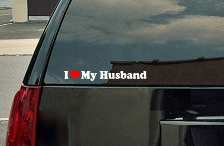 i love my husband bumper sticker - 2