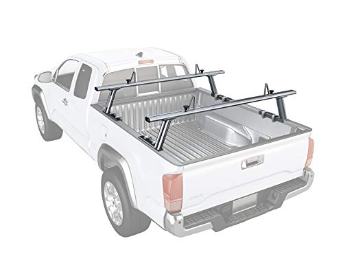 - AA-Racks Model APX2502 Low-Profile Utility Aluminum Pick-Up Truck Ladder Rack with Load Stops - Silver