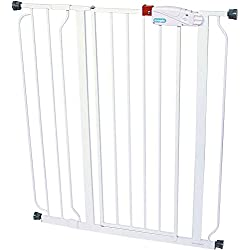 Gate for Dog, Cats - Easy Step Extra Tall Walk-Through Gate - Dog Doors- Cat Doors, Gates & Ramps,Color : White,Stands : 41-inchs, Expands to fit Openings Between 29-34 inches or 35-38.5 inches