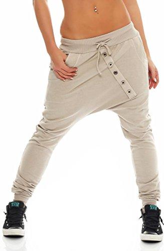 malito dames Sweatbroek in effen kleuren | Baggy om te dansen | Joggingbroek met knopenrij | Sweatpants – Trainingsbroek…