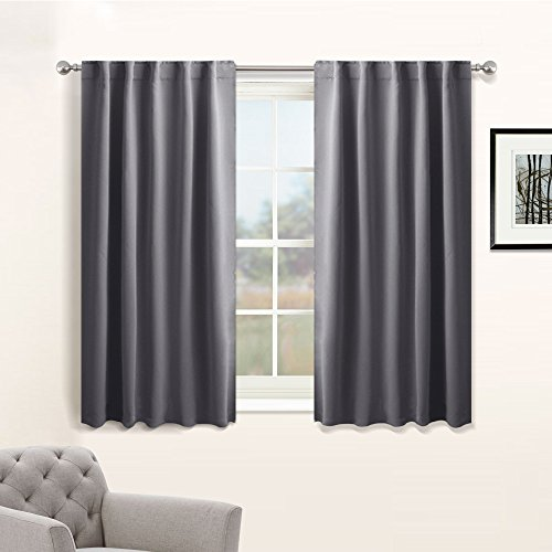 ns Window Treatments - Thermal Insulated Light Blocking Drapes Back Tab / Rod Pocket Curtain Panels for Bedroom Living Room by PONY DANCE, 42