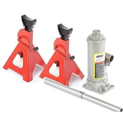 JEGS Performance Products 79006K Jack Kit Includes: (1) 4-Ton Bottle Jack (2) 3-