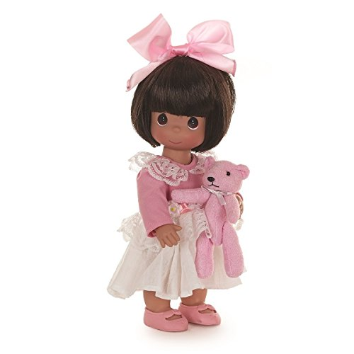 [Precious Moments Bear Hugs to You Brunette Doll] (Precious Moments Angel Doll)
