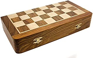Engraved Personalised Hand Crafted Large Chess Game Set with Rosewood Board