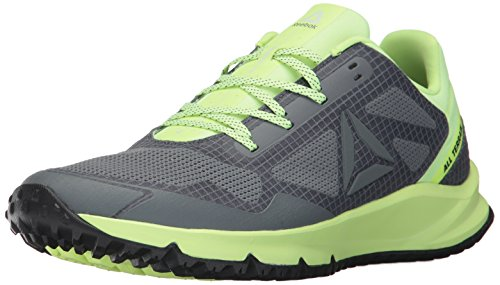 Reebok Men's All Terrain Freedom EX Running Shoe, Black/Electric Flash/White/Pewter/Alloy, 8.5 M US