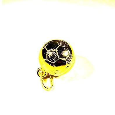 Colgante de balón de fútbol de oro de 8 quilates.: Amazon.es: Joyería