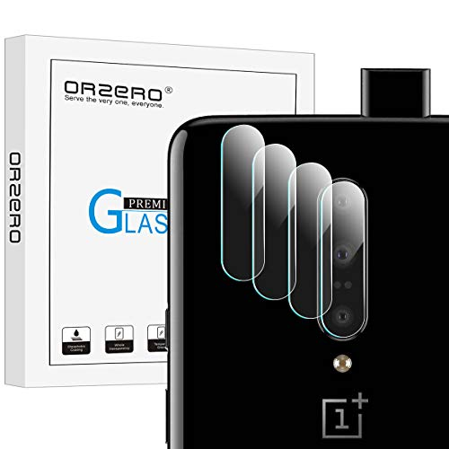 [4 Pack] Orzero Compatible for (OnePlus 7 Pro) Camera Lens Flexible Glass Protector, [Willow Glass], [2.5D Arc Edges], 9 Hardness HD Anti-Scratch Bubble-Free [Lifetime Replacement Warranty]