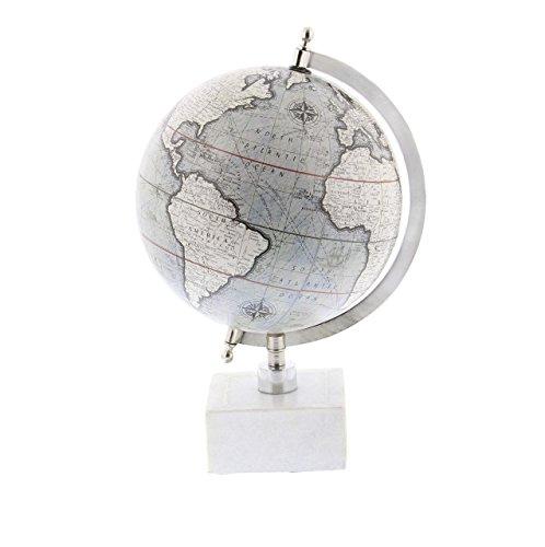 Deco 79 28546 Matte Decorative Globe with Iron Ceramic Stand 13