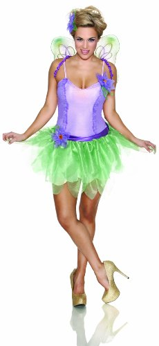 Womens Lilac Fairy Costumes (Delicious Lilac Fairy Costume, Multi, Large)