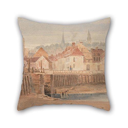 Boulogne Mini - Artistdecor Pillow Shams Of Oil Painting Richard Parkes Bonington - Boulogne Harbor,for Relatives,boys,pub,boy Friend,kids Boys,father 16 X 16 Inches / 40 By 40 Cm(twin Sides)