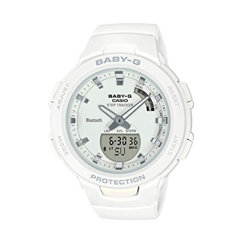 Casio Womens Quartz Watch, Analog-Digital Display and Resin Strap - BSA-B100-7ADR