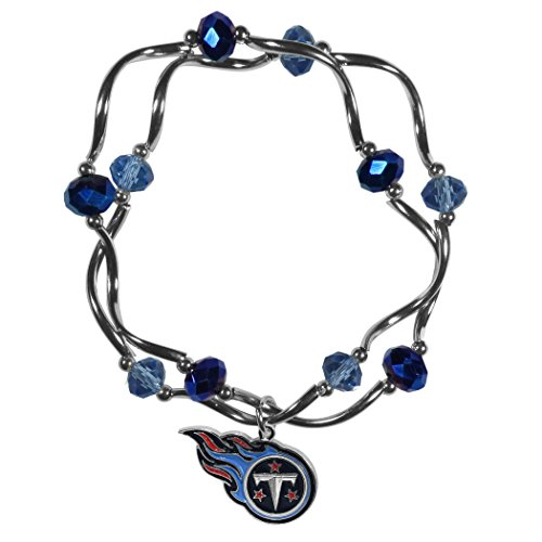 Siskiyou NFL Tennessee Titans Womens Crystal Bead Bracelet (Nfl Tennessee Titans Crystal)