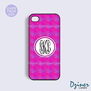 Personalized Your Initials iPhone 6 Case - 4.7 inch model - Hot Pink Sky Pattern iPhone Cover by Maris's Diary