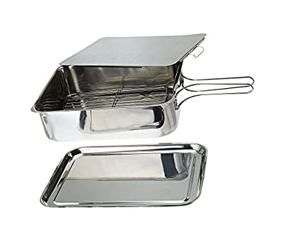"Green_Kitchen Excel Steel Stainless Steel Stovetop Smoker, 14 1/2"" X 10 1/2"" X 4"", Silver from 689731004589"