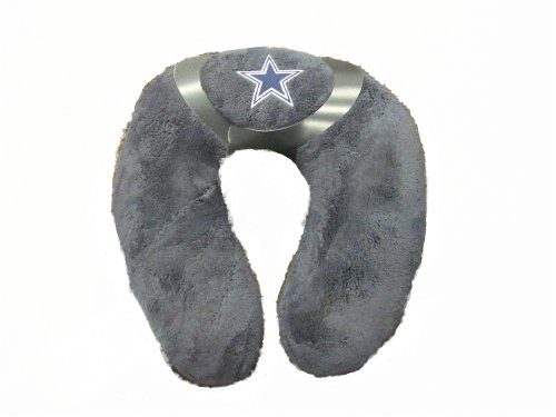 Dallas Manufacturing Fleece (NFL Dallas Cowboys Embroidered U-shaped Travel Neck Pillow (Gray))