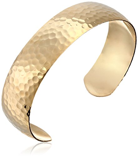(14k Gold-Filled Hammered Cuff Bracelet )