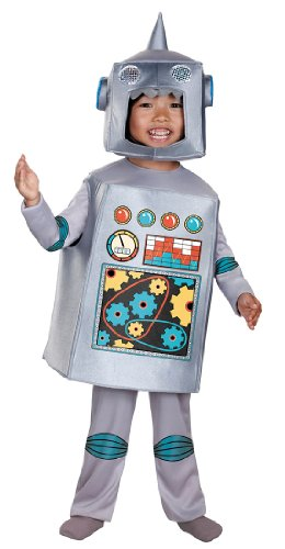 Kids Retro Robot Costumes (Retro Robot Toddler Costume - Toddler Large)