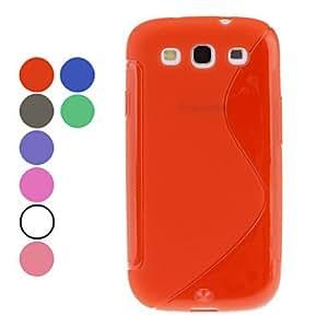 CECT STOCK S-Forma TPU caso suave para el Samsung Galaxy S3 I9300 (colores surtidos) , Gris