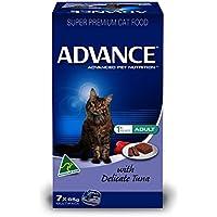 Advance Adult Cat Delicate Tuna 85gx7pk Cat Wet Food, 0.704 kilograms